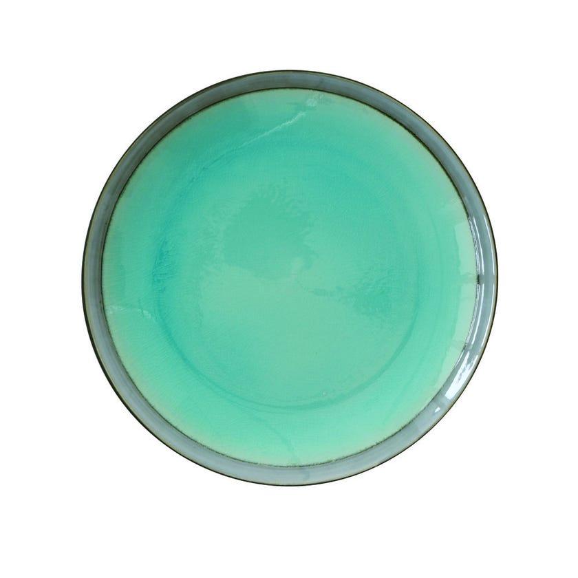 Stoneware Dinner Plate, Blue