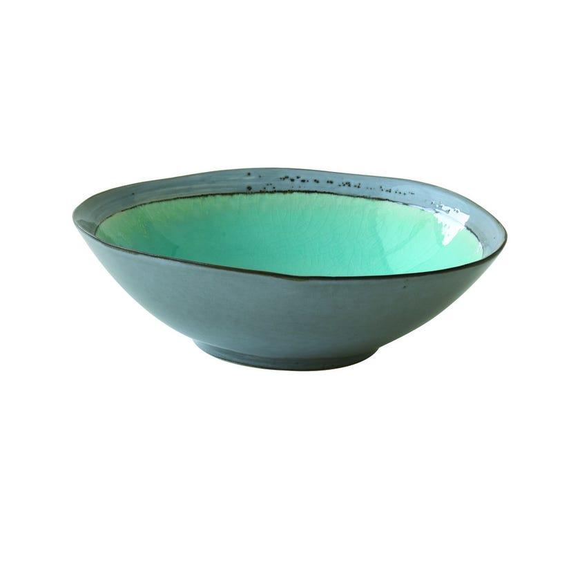 Stoneware Soup Plate, Blue