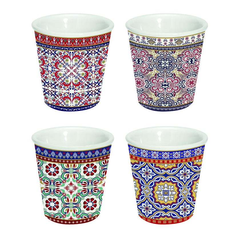 Moro 4-Piece Porcelain Coffee Cups