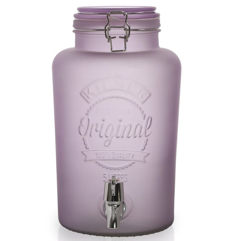Kilner Beverage Dispenser, Purple - 5L