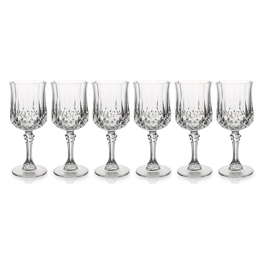 Eclat Longchamp Stem Glass Set - 6 Pieces, Transparent, 18 cms