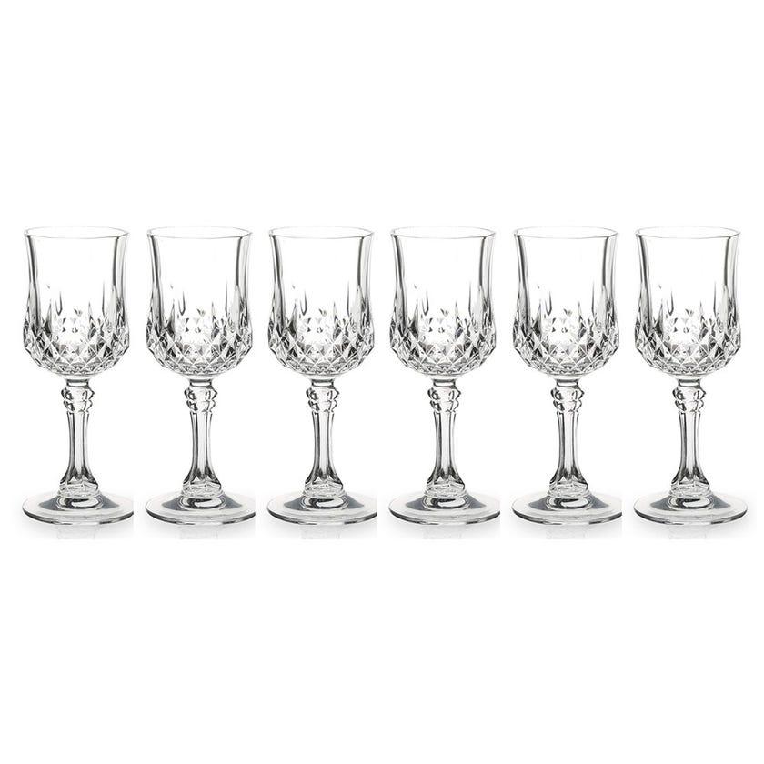 Eclat Longchamp Stem Glass Set - 6 Pieces, Transparent, 11.5 cms