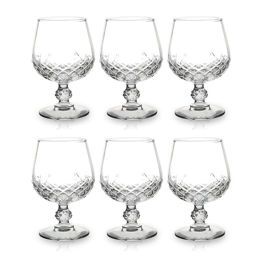 Eclat Longchamp Goblet Glass Set - 6 Pieces, Transparent, 13 cms