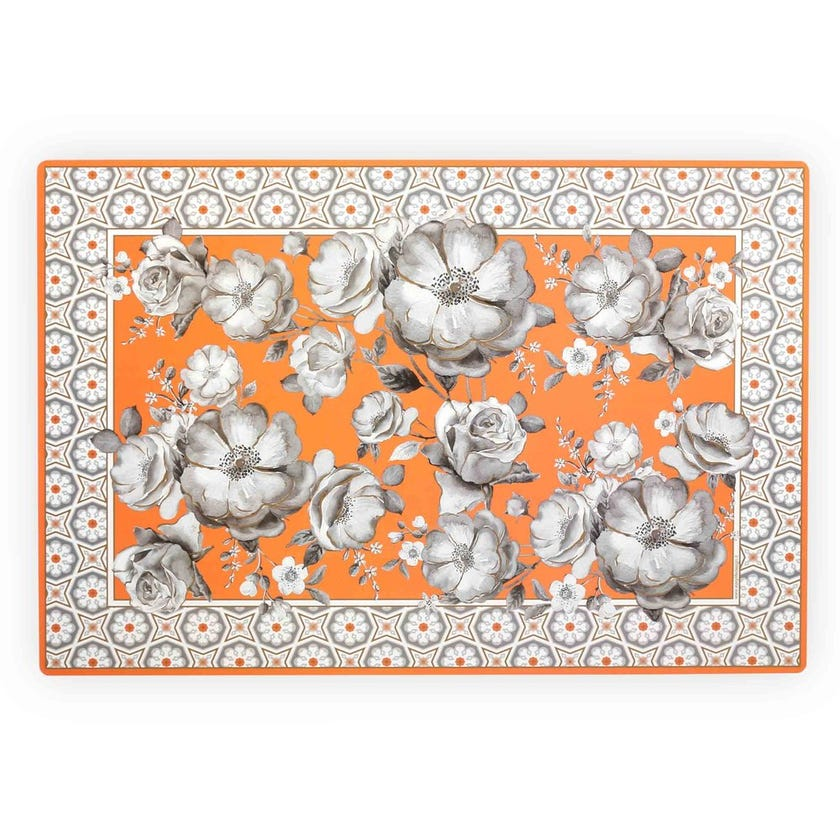 Double-Sided Table Mat, Orange - 45x30 cms