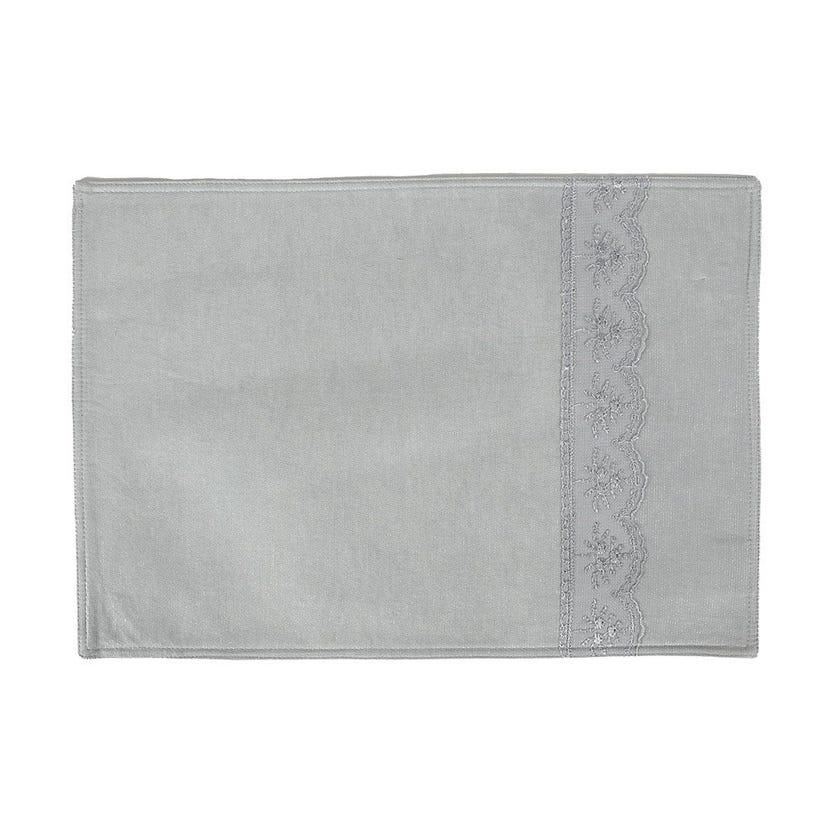 Carmela Polycotton Placemat, Mint – 35x50 cms