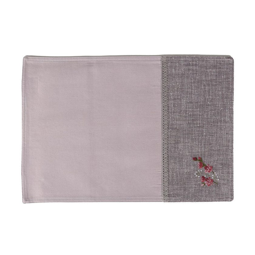 Nell Polycotton Placemat, Lilac – 35x50 cms
