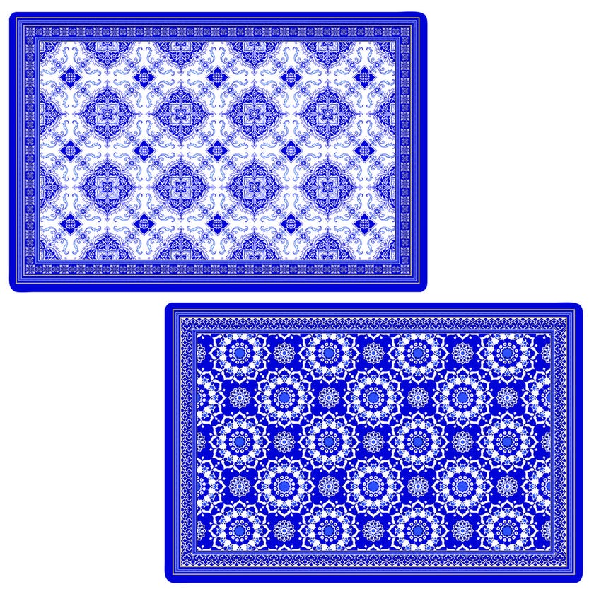 Azulejo Double-Sided Table Mat, Multicolour – 45×30 cms