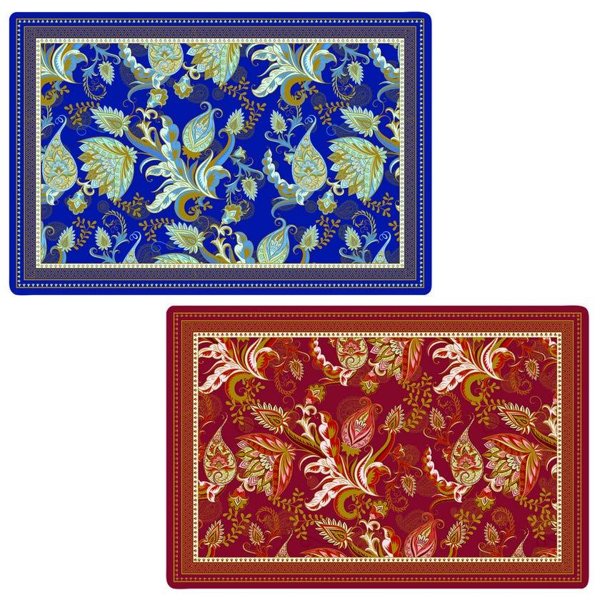 Shangri-La Double-Sided Table Mat, Multicolour – 45×30 cms