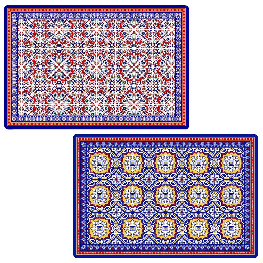 Morocco Double-Sided Table Mat, Multicolour - 45×30 cms
