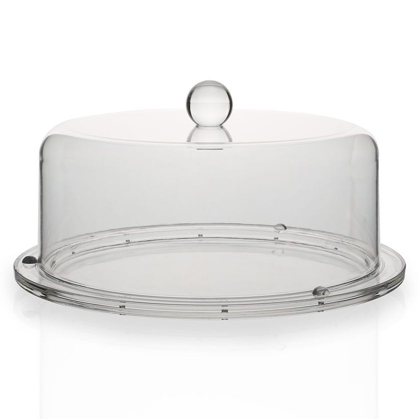 Resin Cake Tray with Cover