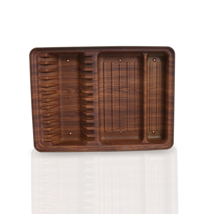 Polystyrene Dish Drainer, Large - Mahogany