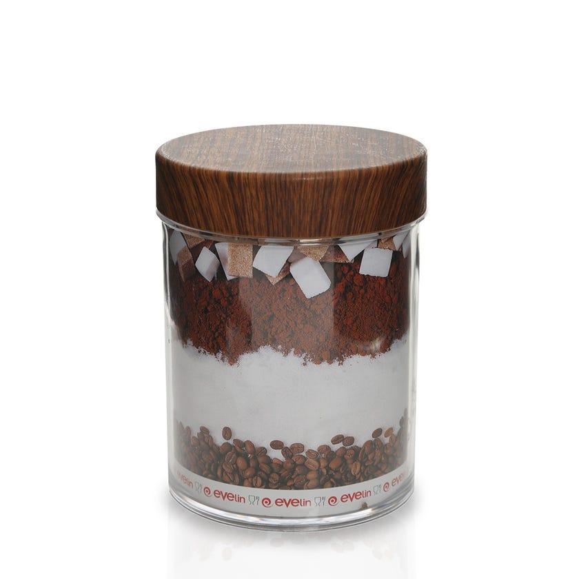 Polystyrene Round Jar, Mahogany - 2 Lt