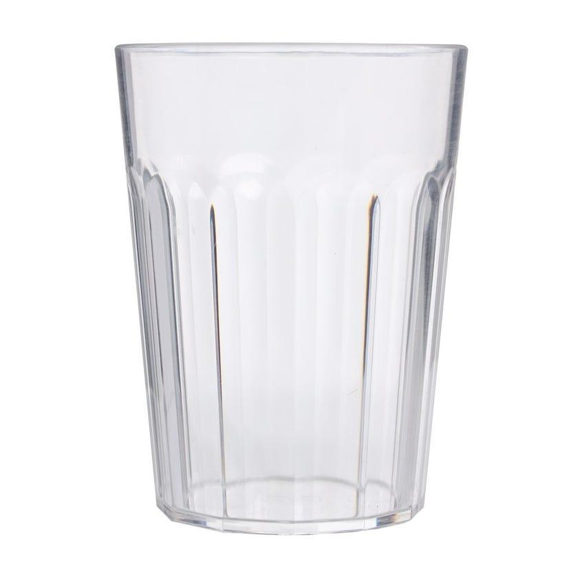 Oasi Ribbed Glass, Transparent