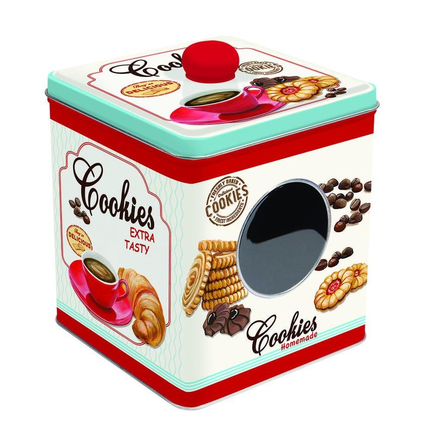 Cookie Tin Box, White