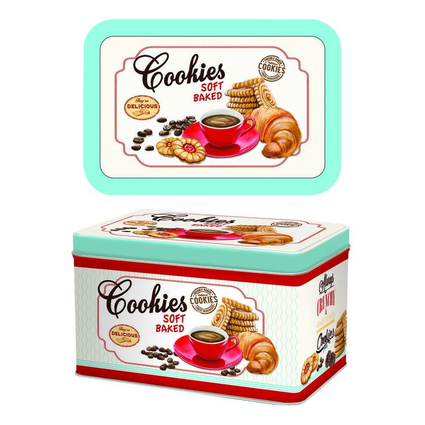 Biscuit Tin Box, White