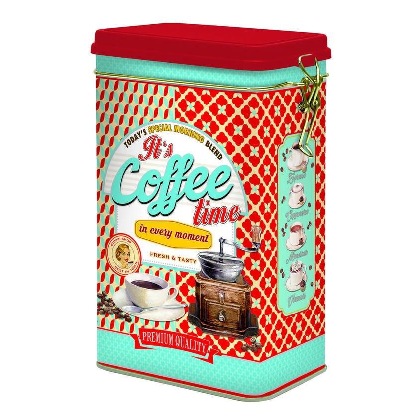 Coffee Time Tin Box, Red