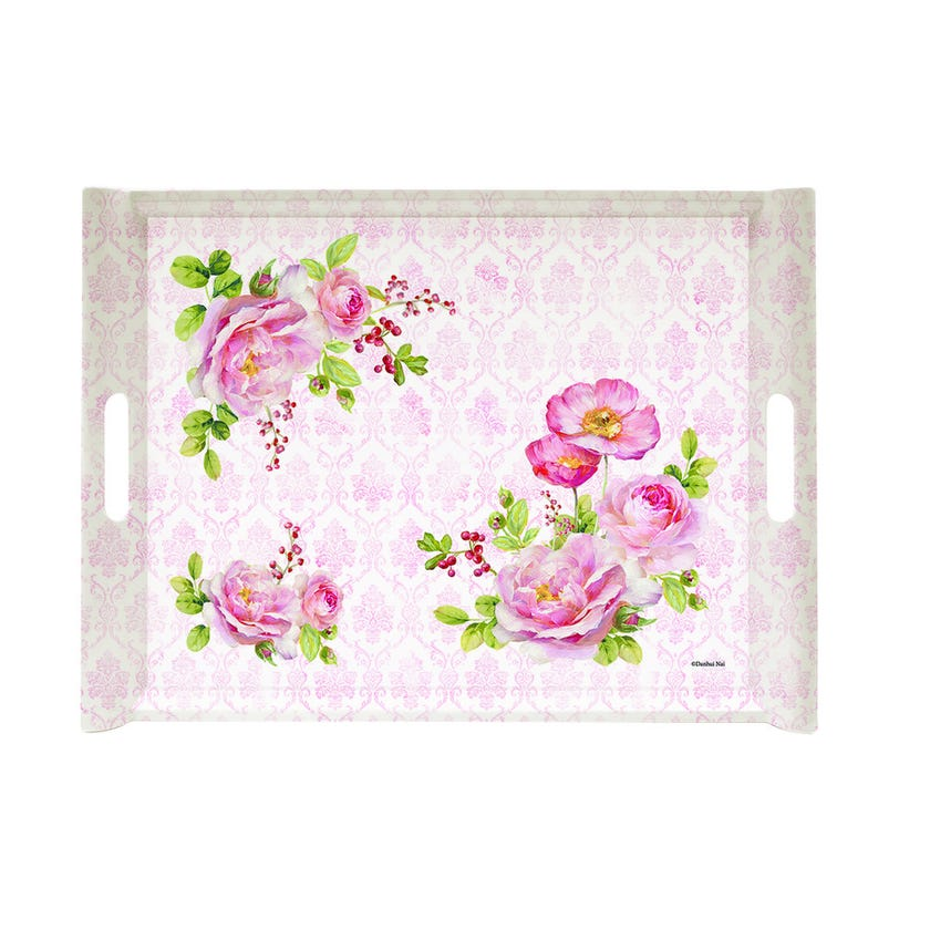 Floral Damask Tray