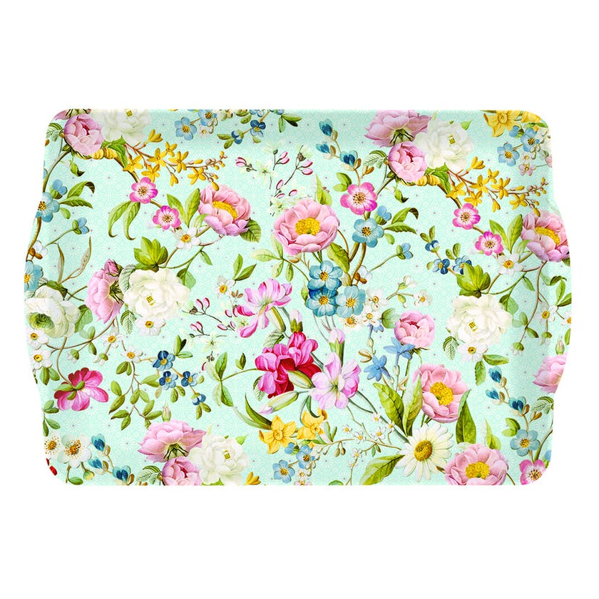 Spring Festival Tray with Handle, Multicolour – 33x22 cms