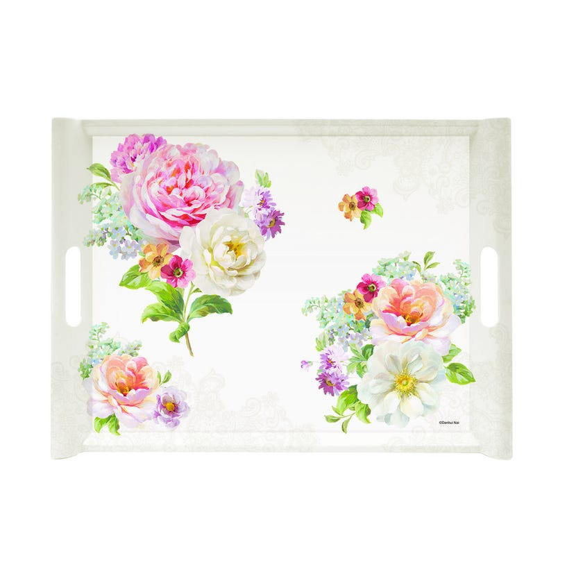 Romantic Lace Tray With Handles, Rectangle