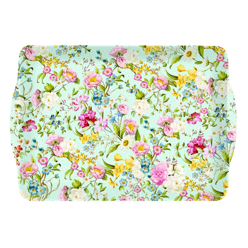 Spring Festival Tray with Handle, Multicolour – 47x32 cms