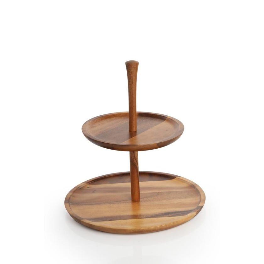 Wood Double Tray