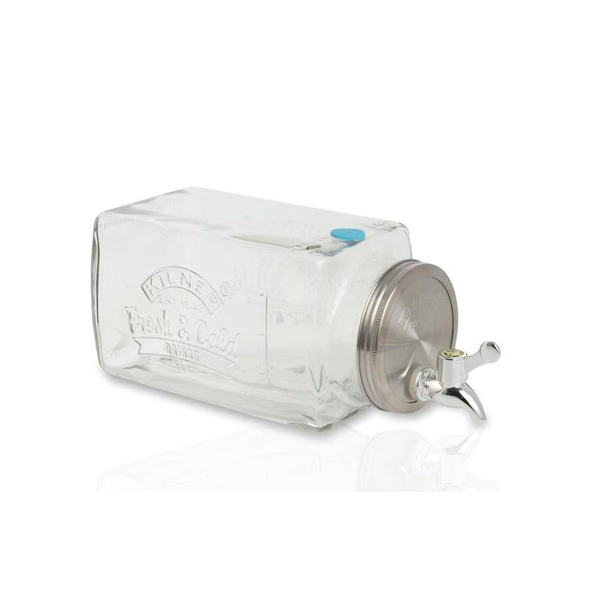 Kilner Fridge Drinks Dispenser - Clear, 3 L