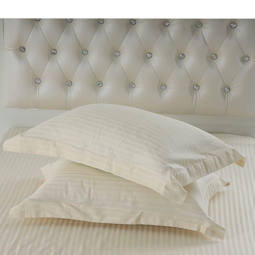 2-Piece Pillowcase, Ivory - 250TC, 50x70 cms