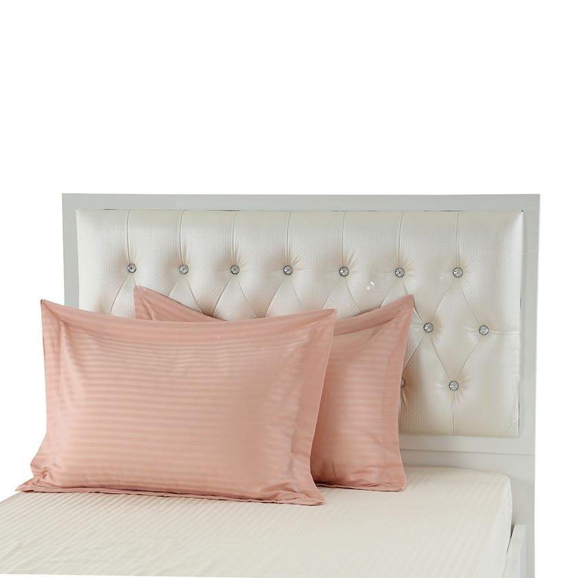 2-Piece Pillowcase, Dark Pink - 250TC, 50x70 cms
