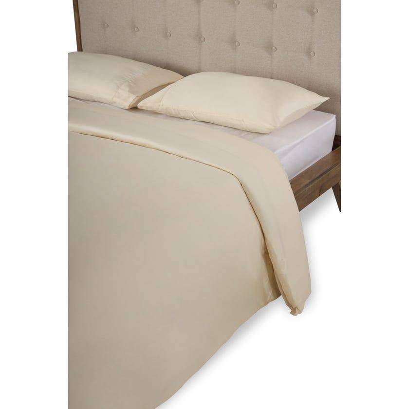 3-Piece Ivory Super King Size Duvet Cover Set, 300TC - 260 x 240 cms