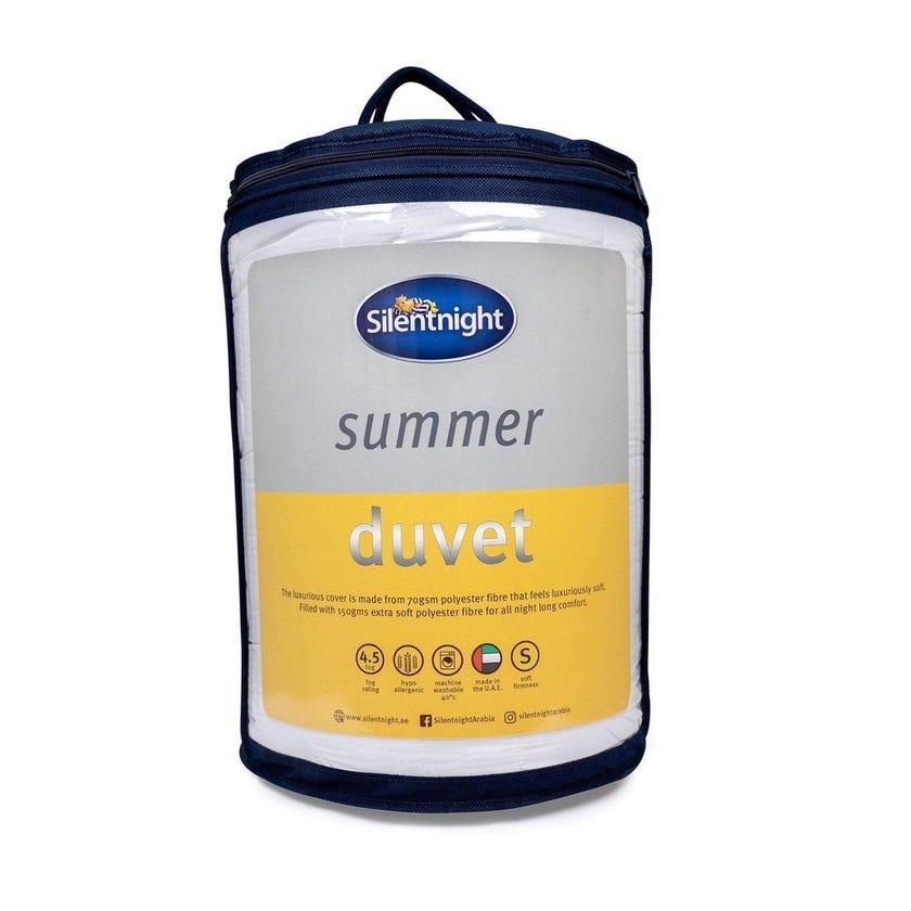 Silent Night Summer Duvet, White - 240x260 cms