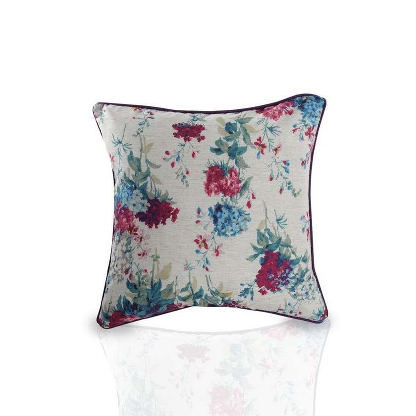 Digital Printed Floral Cushion Cover (Purple, Polyester, 45 x 45 cms, 1-Piece)