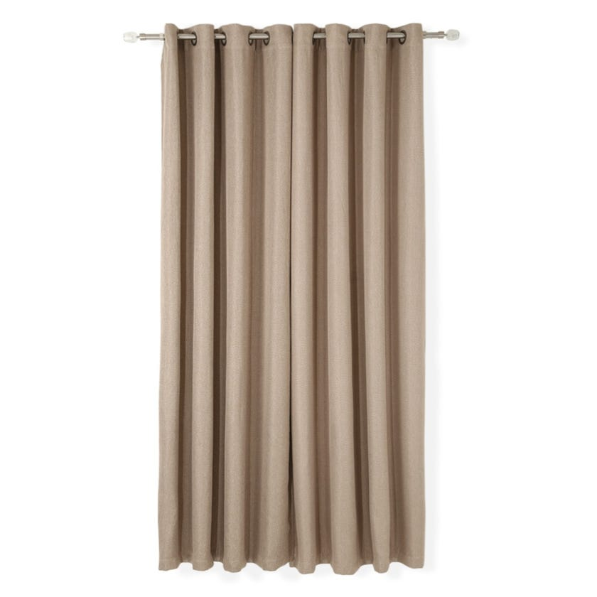 Ally Linen Curtain, 140 x 240 cms, Coffee, Pack of 2