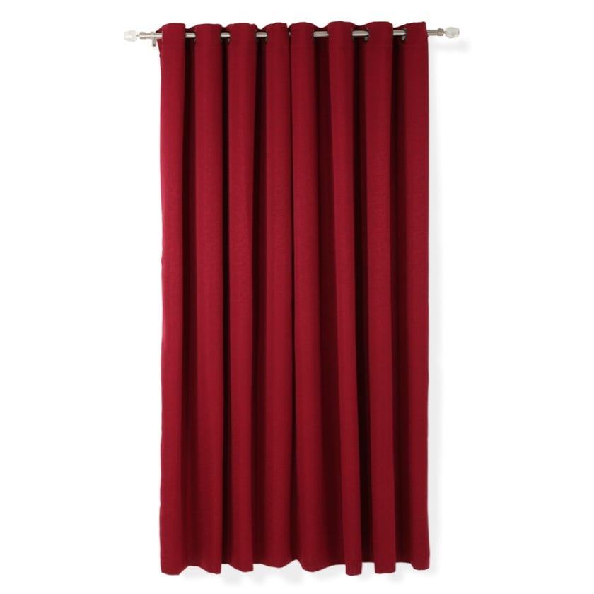 Ivy Jacquard Curtain, 140 x 240 cms, Burgundy, Pack of 2