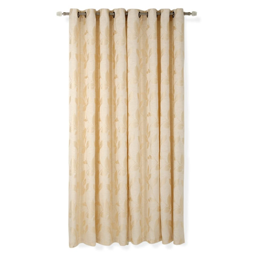 Rookie Jacquard Curtain, 140 x 240 cms, Beige, Pack of 2