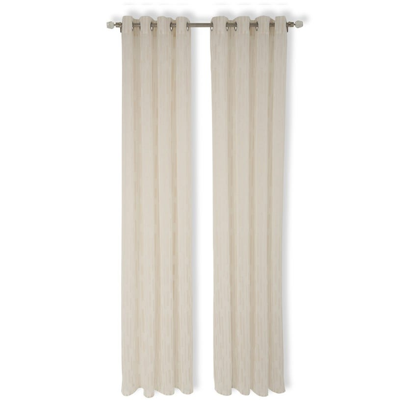 Sheer Curtain, 140 x 240 cms, White and Beige