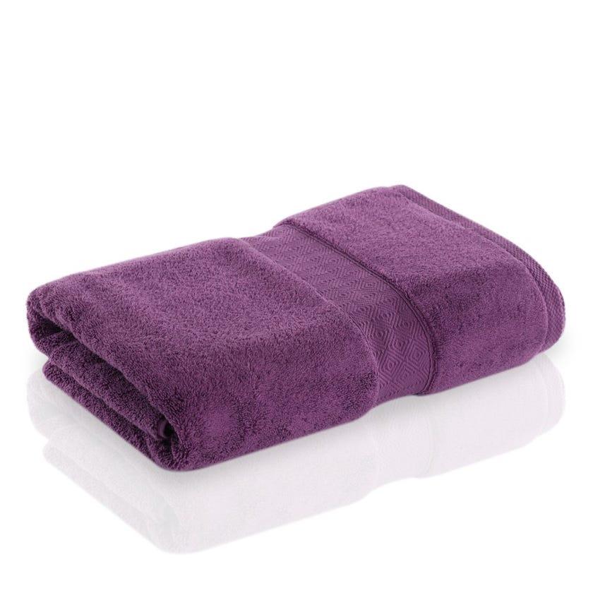 Vienna Zero Twist Bath Sheet, Dark Purple - 160x80 cms