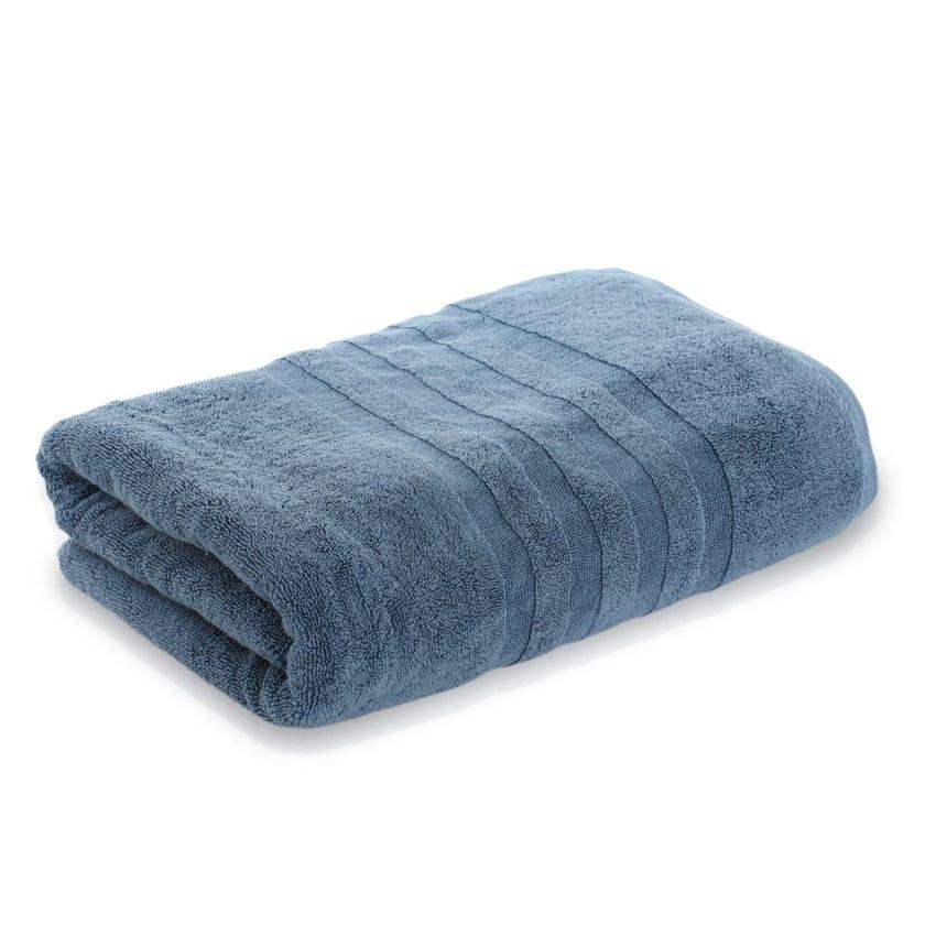 Lauren Egyptian Cotton Bath Sheet, Denim Blue - 85 x 155 cms