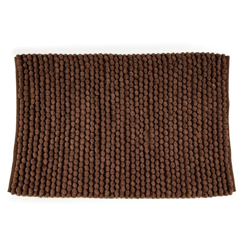 Micro Popcorn Rug, Brown - 60x90 cms