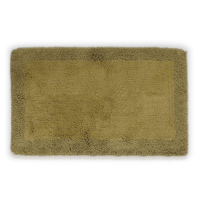 Deluxe Cotton Viscose Bathmat, Green - 53x86 cms