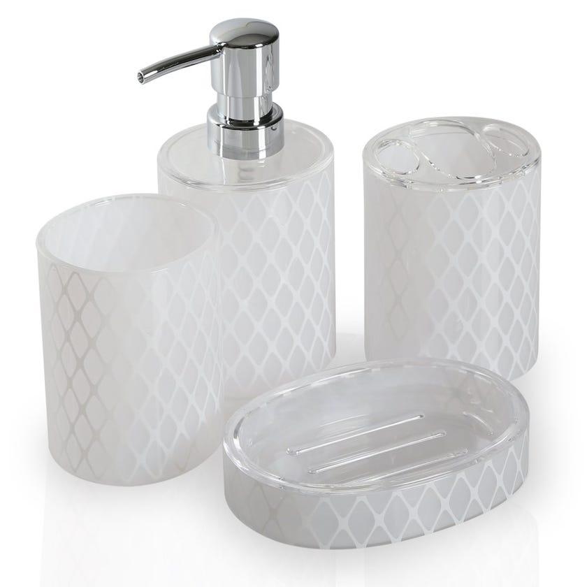 3D Print 4-Piece Bath Set, White