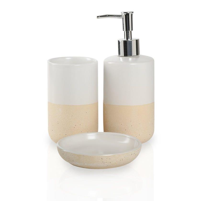 White Sand 3-piece Bath Accessories Set