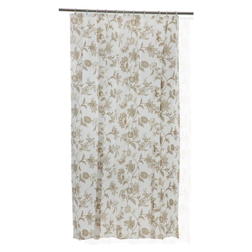 Printed EVA Shower Curtain, Flower - Gold