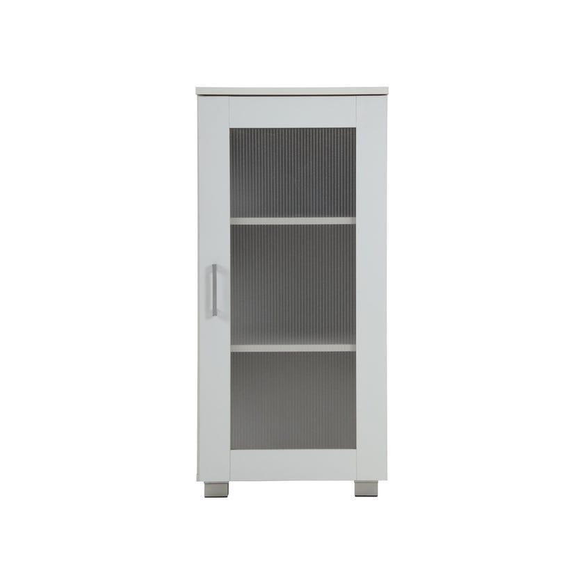 Single Door High Cabinet, White