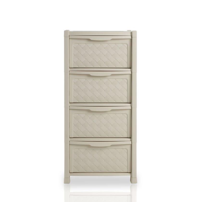Arianna 4-drawer Storage Unit, Cream