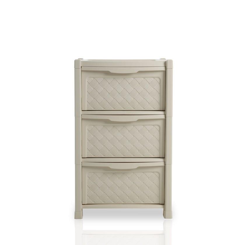 Arianna 3-drawer Storage Unit, Cream