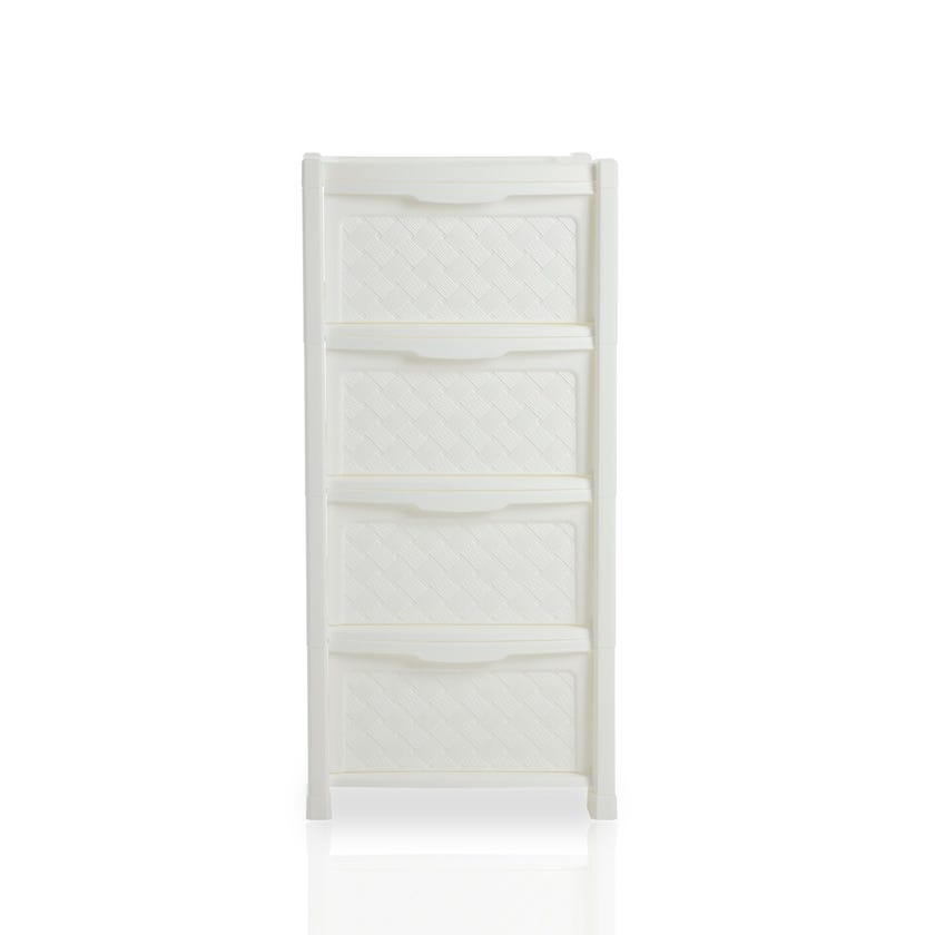 Arianna 4-drawer Storage Unit, White