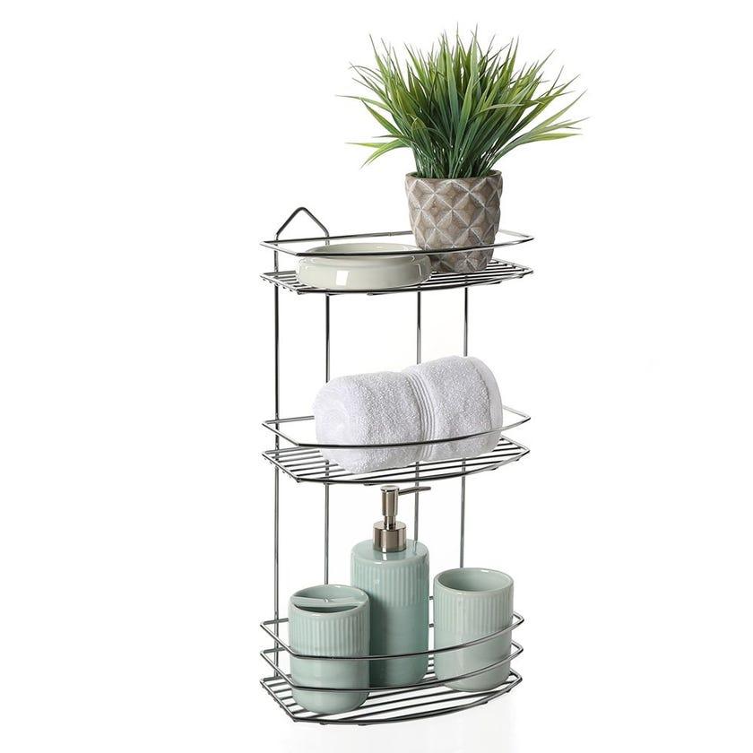 3-Tier Bath Shelf, Chrome – 47 cms