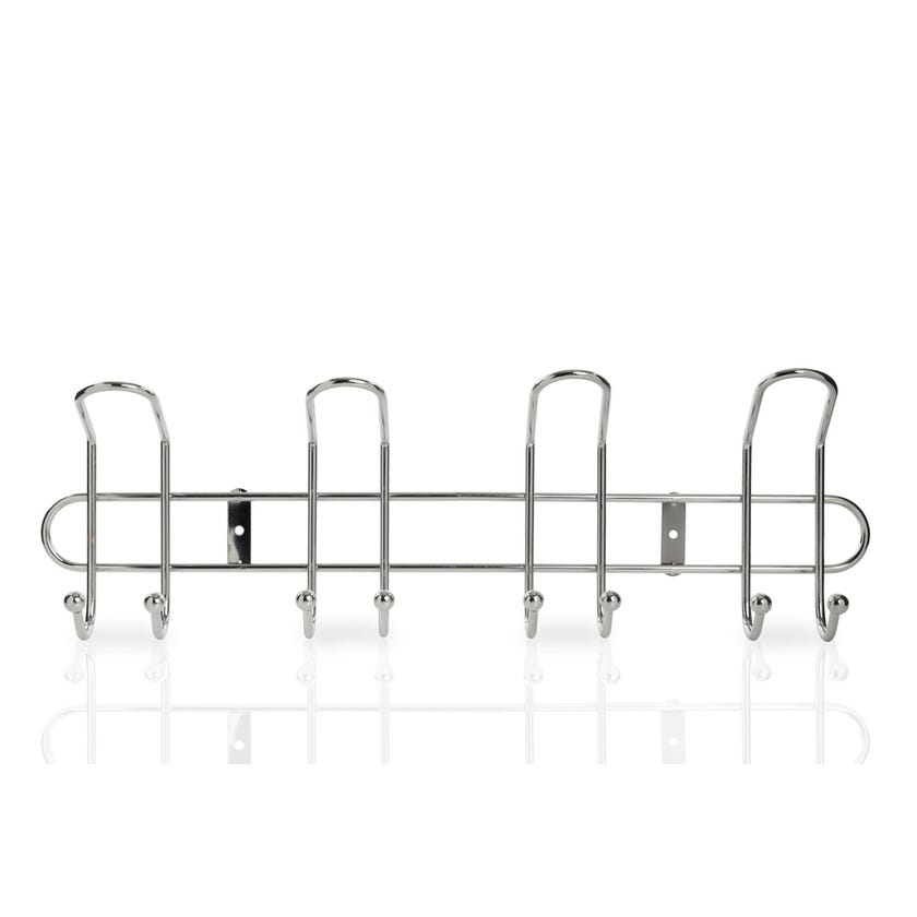 Wall Mounted Curved Chrome with 4 Hooks