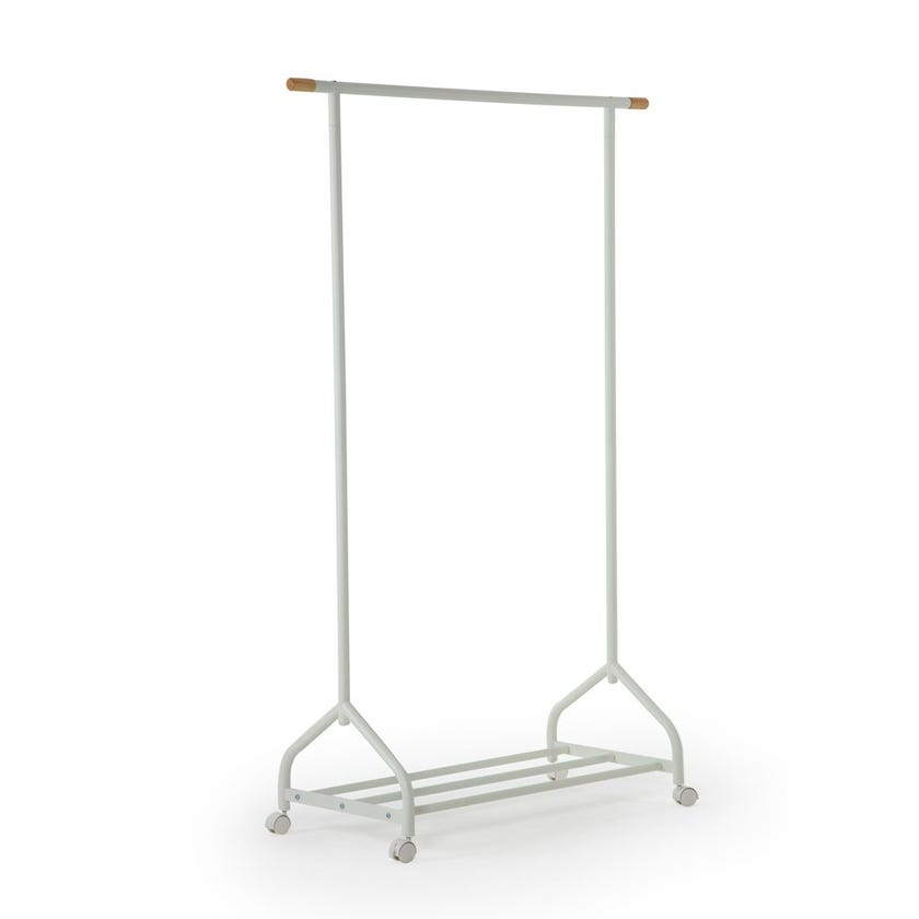 Garment Hanger Stand, Metal, White D 43.5 X H162 cms