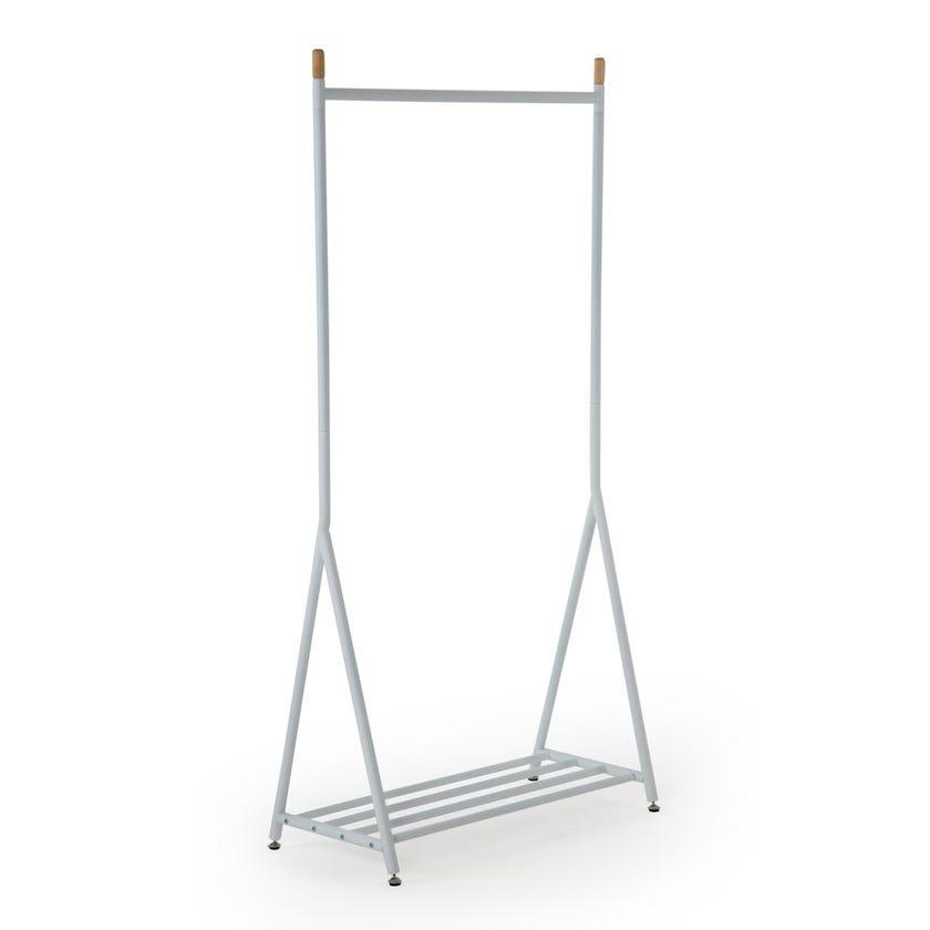 Garment Hanger Stand, Metal, White D 41 X H171 cms